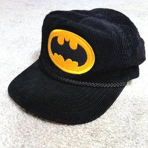 Batman Corduroy Hat DC Comics Black Cap Vintage